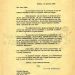 lettera 16 gennaio 1958