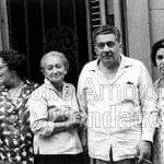 L'Avana 1968. Da Sinistra: il regista catalano Ricardo Salvat, Paola Masino, Alba, lo scrittore cubano Lezema Lima, la signora Lima, il fotografo Chino Lope.