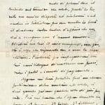 Lettera di Angelandrea Zottoli a Flora