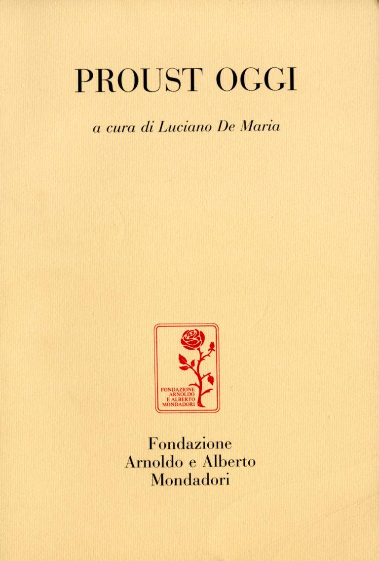 Proust oggi copertina