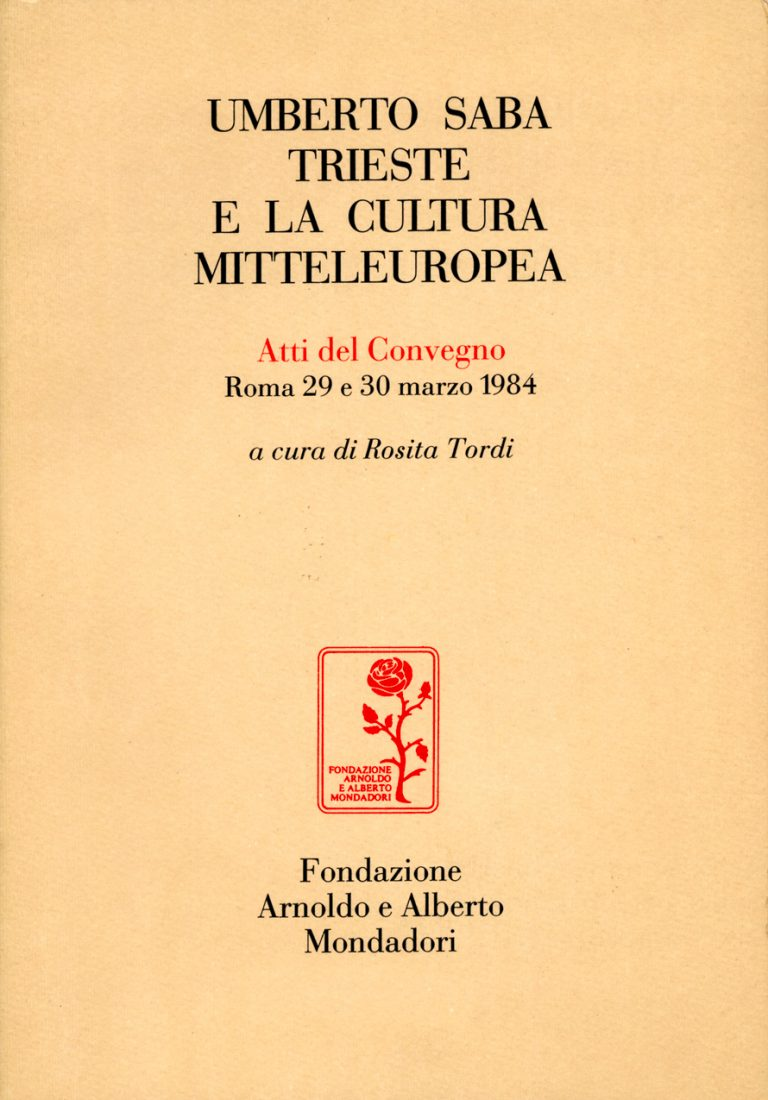 Umberto Saba, Trieste e la cultura mitteleuropea copertina