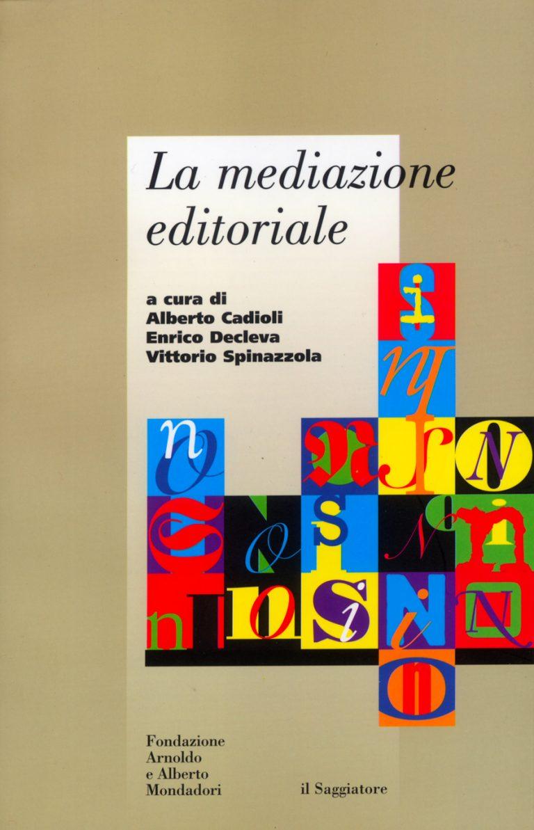 La mediazione editoriale copertina
