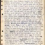 """Pagina manoscritta del """"Quaderno nero"""", inedito"""