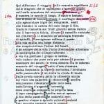 """""""Da un'osteria sulla Sarzanese"""", dattiloscritto con correzioni autografe pag 1"""