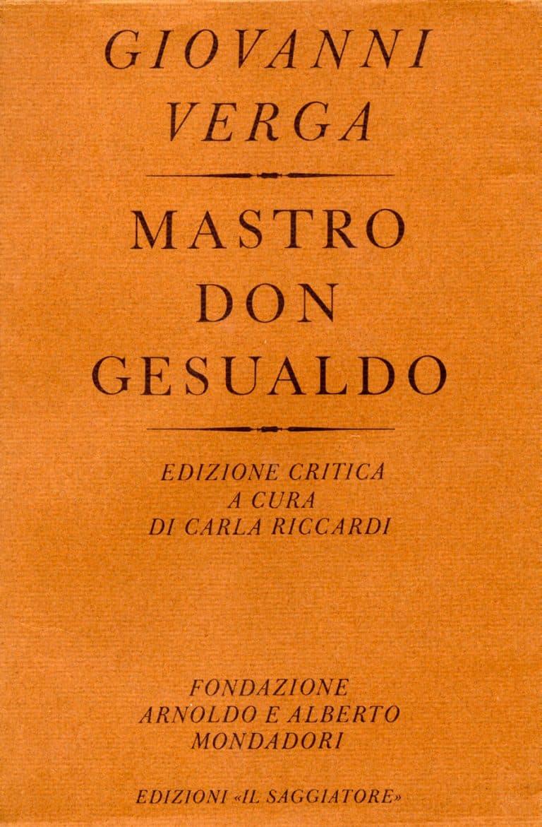 Giovanni Verga. Mastro Don Gesualdo copertina