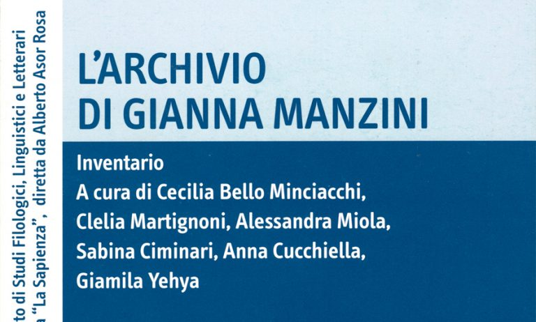 L'archivio di Gianna Manzini. Inventario