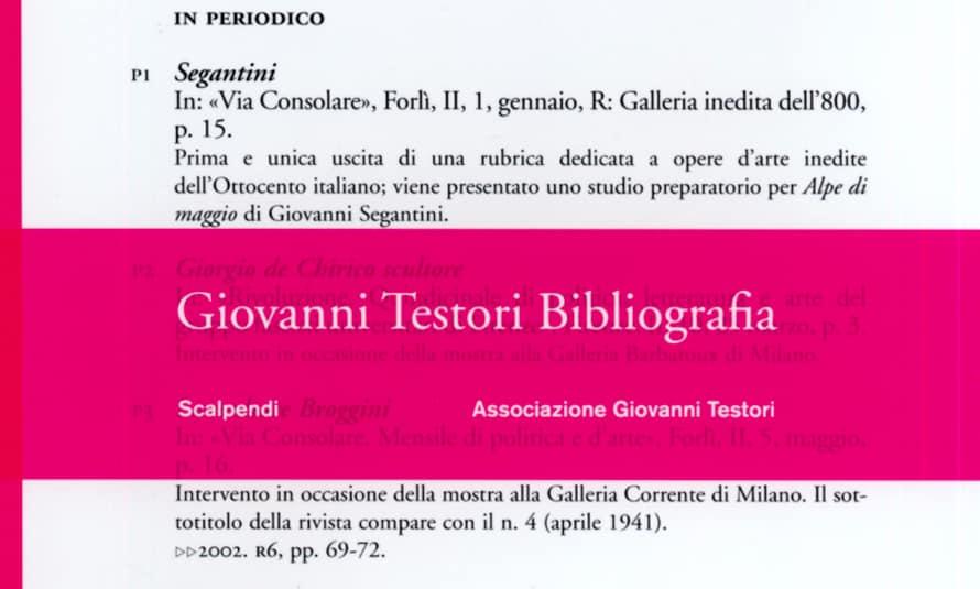 Giovanni Testori Bibliografia copertina