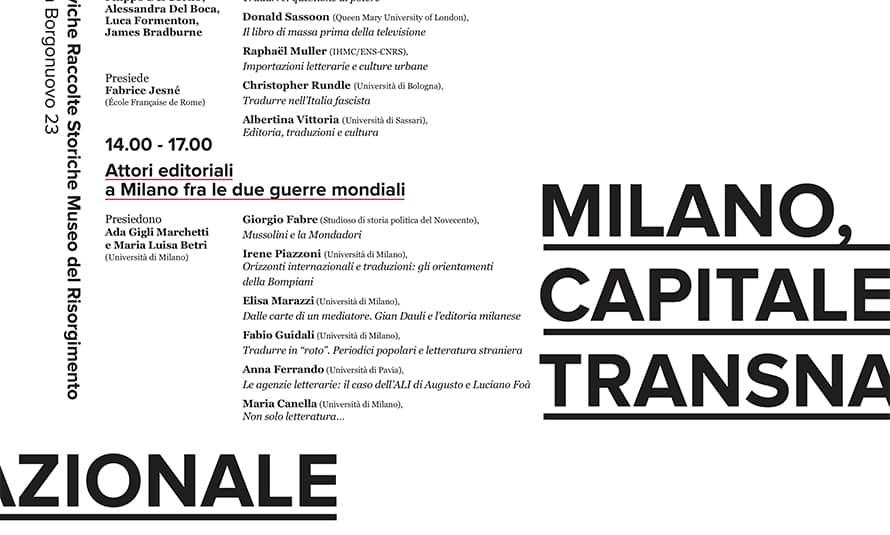 Copertina Milano, capitale transnazionale del libro fra le due guerre