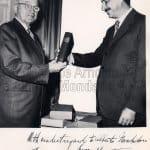 Alberto Mondadori con Harry Truman, 1956 foto