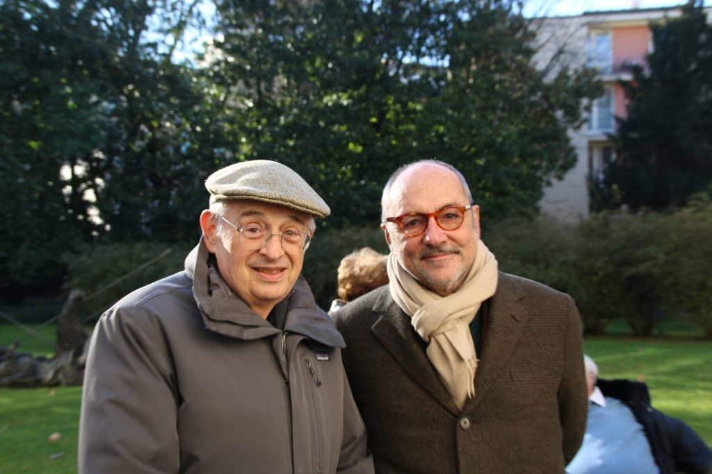 il professore Enrico Decleva insieme al presidente di Fondazione Luca Formenton
