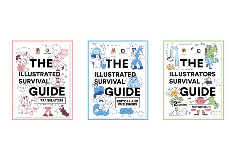 Copertine delle survival guides, le guide illustrate dedicate alle professioni editoriali